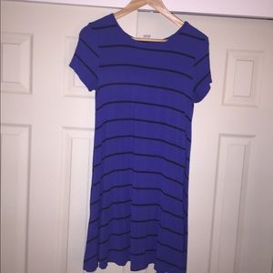 Old Navy Blue & Black Striped Dress